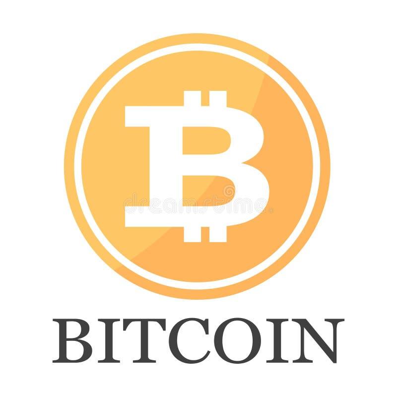 De vectorillustratie van het Bitcoinpictogram royalty-vrije illustratie