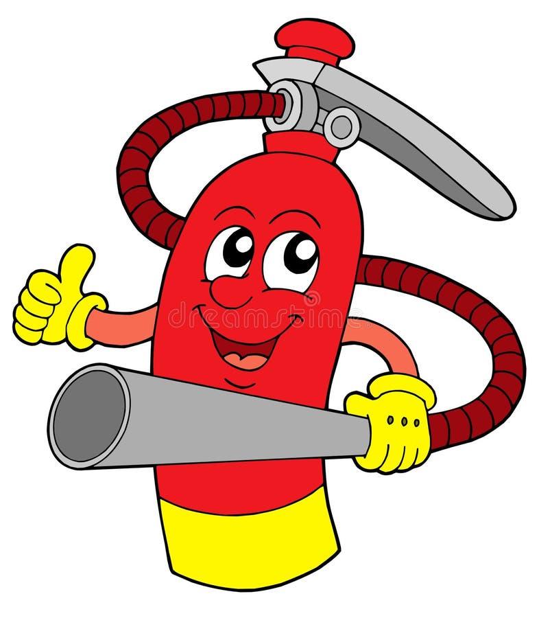 De vectorillustratie van het brandblusapparaat royalty-vrije illustratie
