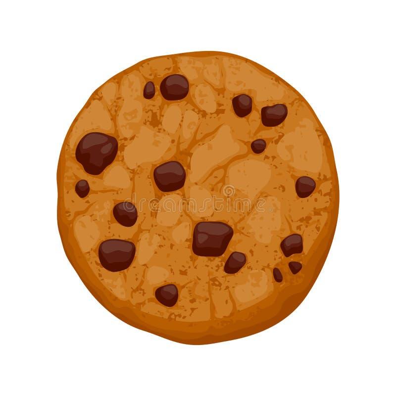 De vectorillustratie van het chocoladeschilferskoekje stock illustratie