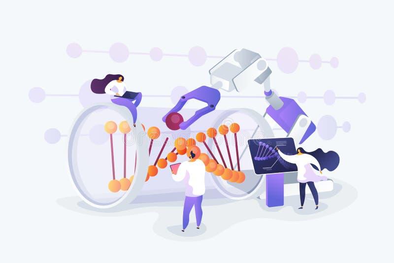 De vectorillustratie van het genetische biologieconcept royalty-vrije illustratie