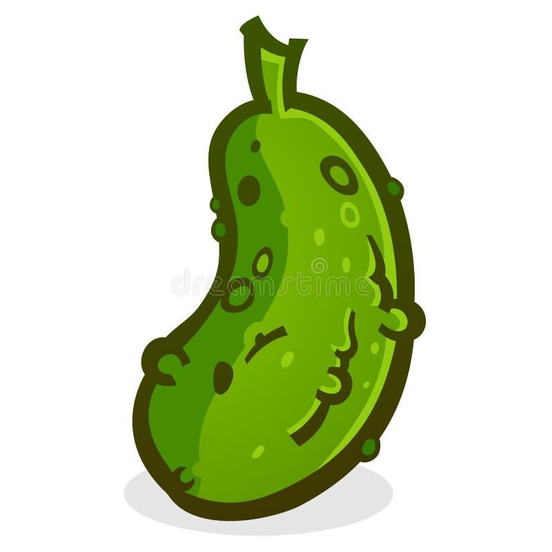De Vectorillustratie van het groenten in het zuurbeeldverhaal stock illustratie