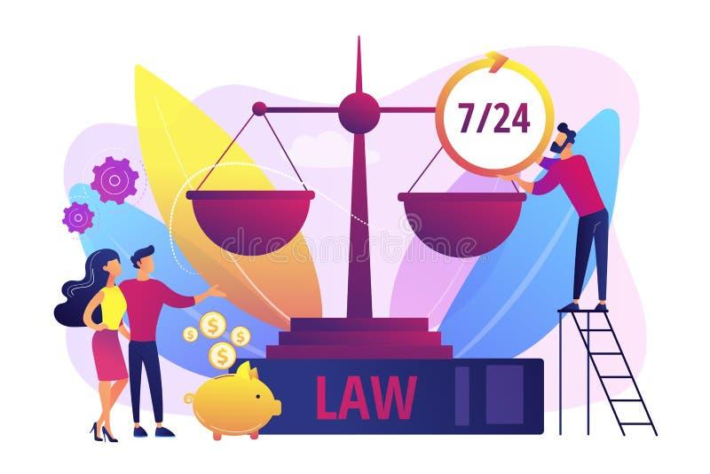 De vectorillustratie van het de juridische dienstenconcept royalty-vrije illustratie