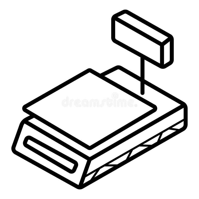 De vectorillustratie van het kassapictogram stock illustratie