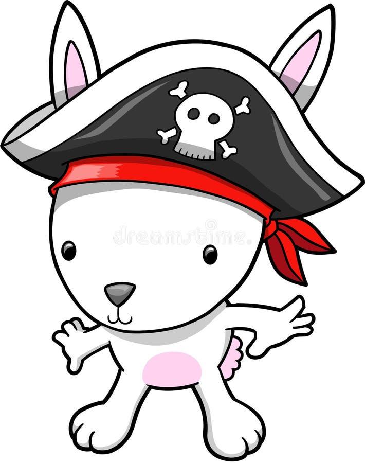 Download De VectorIllustratie Van Het Konijntje Van De Piraat Vector Illustratie - Illustratie bestaande uit leuk, konijntje: 10776121