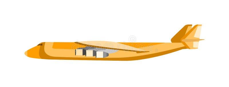 De vectorillustratie van het ladingsvliegtuig vector illustratie