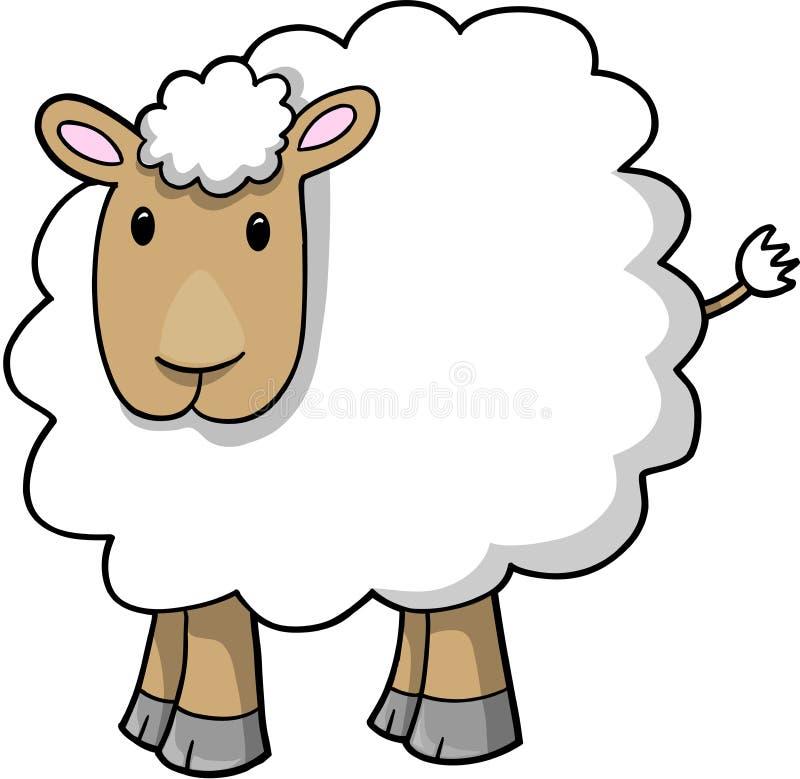 De VectorIllustratie van het Lam van schapen stock illustratie