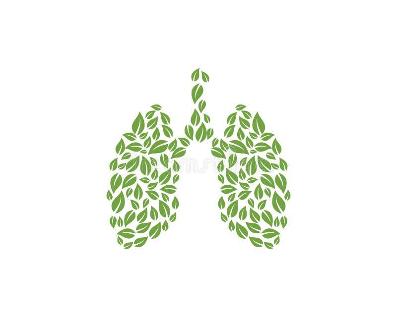 De vectorillustratie van het longenpictogram vector illustratie