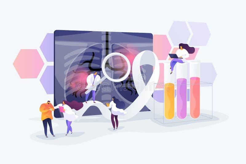 De vectorillustratie van het longkankerconcept stock illustratie