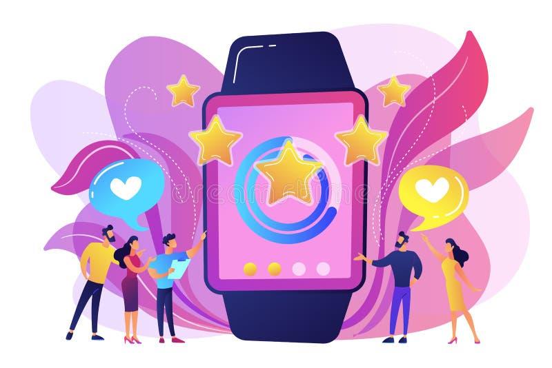 De vectorillustratie van het luxe smartwatch concept stock illustratie