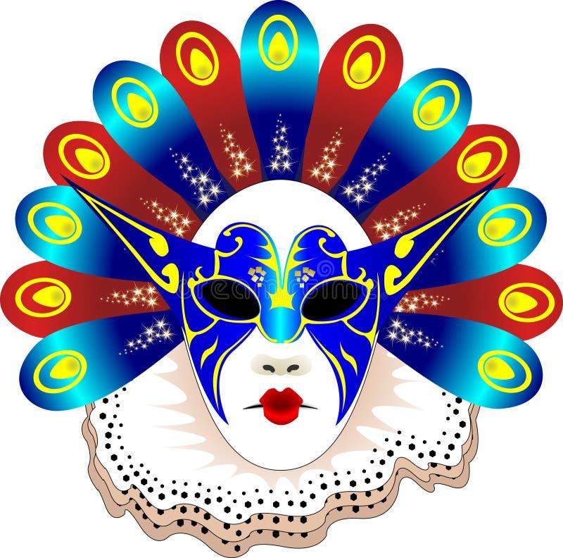 De Vectorillustratie van het Masker van Carnaval stock illustratie