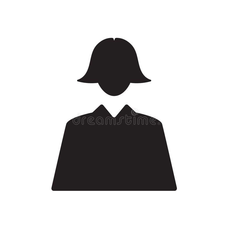 De vectorillustratie van het onderneemsterpictogram royalty-vrije illustratie