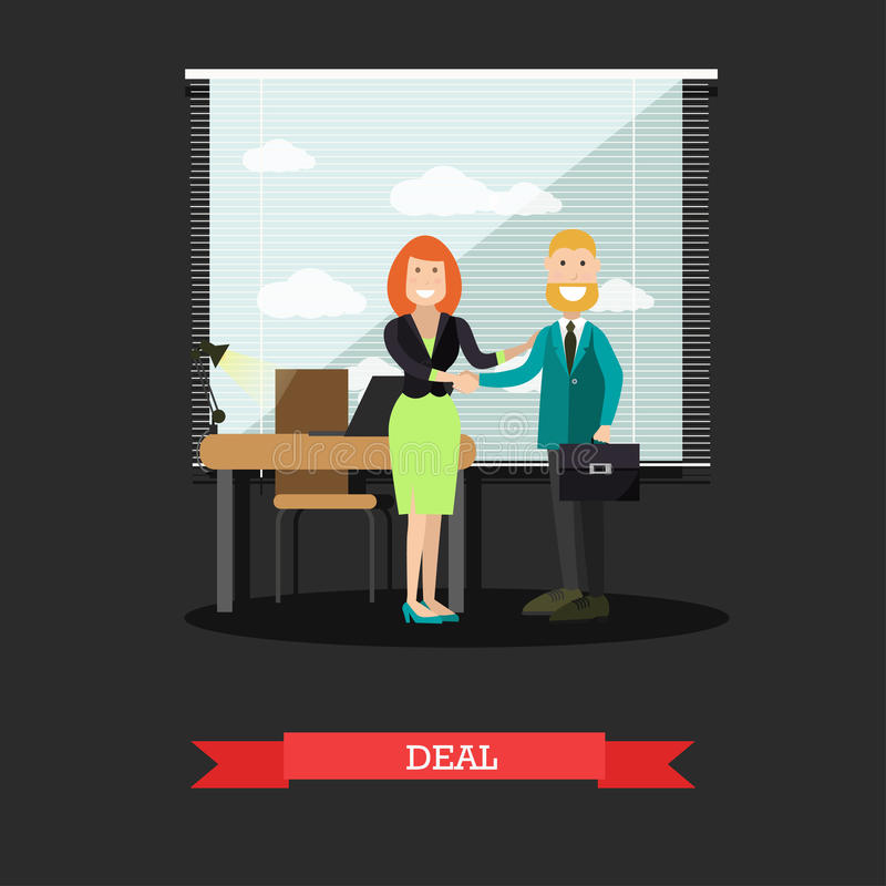 De vectorillustratie van het overeenkomstenconcept in vlakke stijl vector illustratie