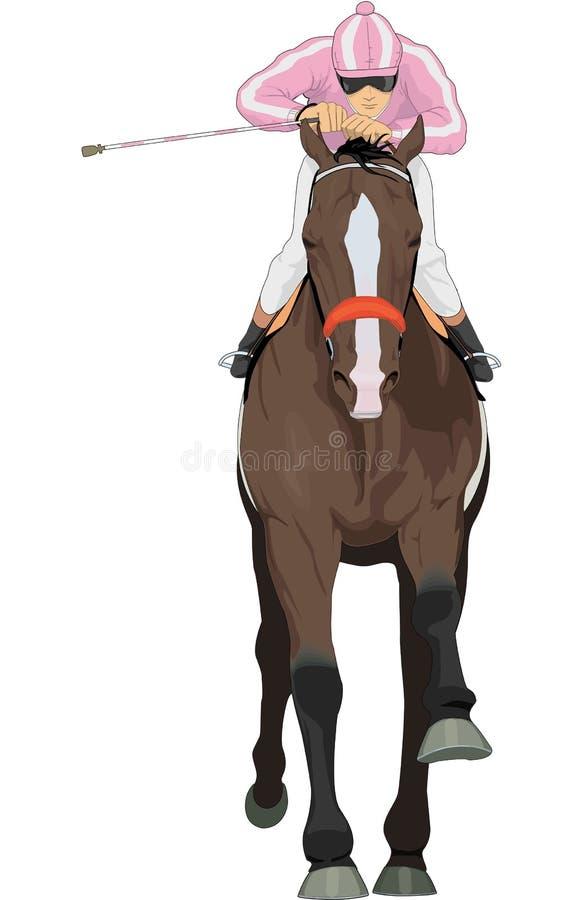 De Vectorillustratie van het raspaard vector illustratie