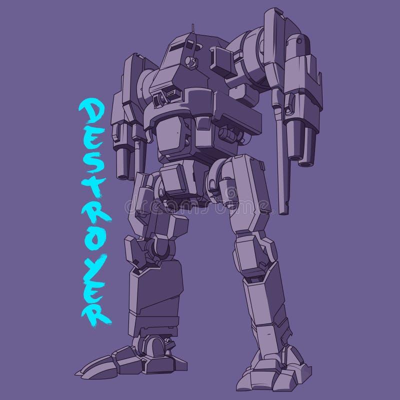 De Vectorillustratie van het robotleger vector illustratie