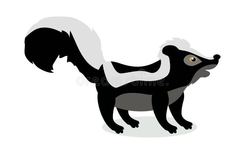 De Vectorillustratie van het stinkdierbeeldverhaal in Vlak Ontwerp vector illustratie
