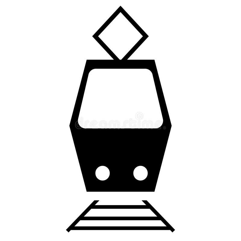 De vectorillustratie van het treinpictogram De vector van het trampictogram stock illustratie