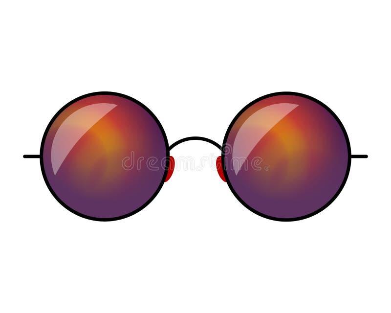 De vectorillustratie van de Hipsterzonnebril De abstracte spiegels van het gradi?ntglas stock illustratie