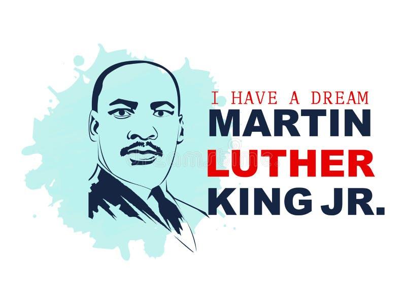 De vectorillustratie van Martin Luther King Day stock illustratie