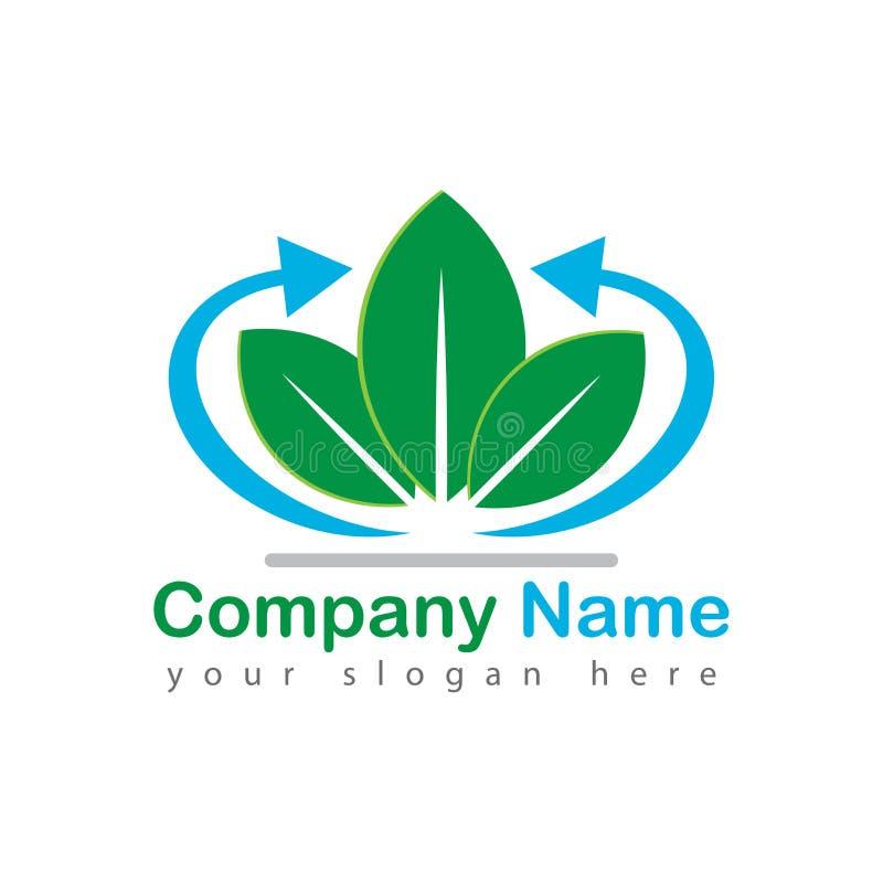 De vectorillustratie van de pijlboom logotype royalty-vrije illustratie
