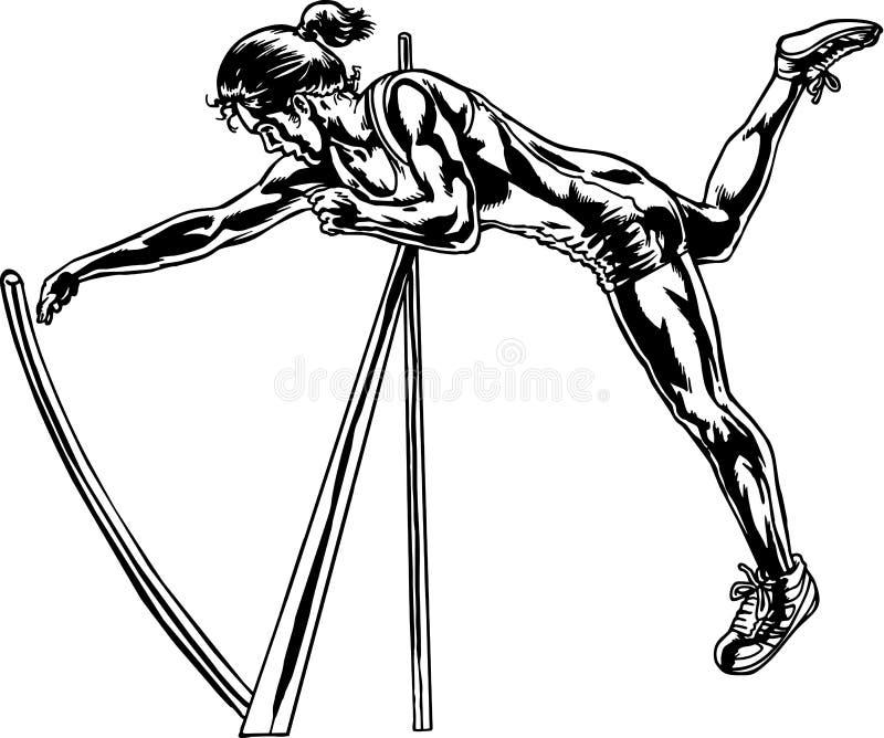 De Vectorillustratie van Pool Vaulter vector illustratie