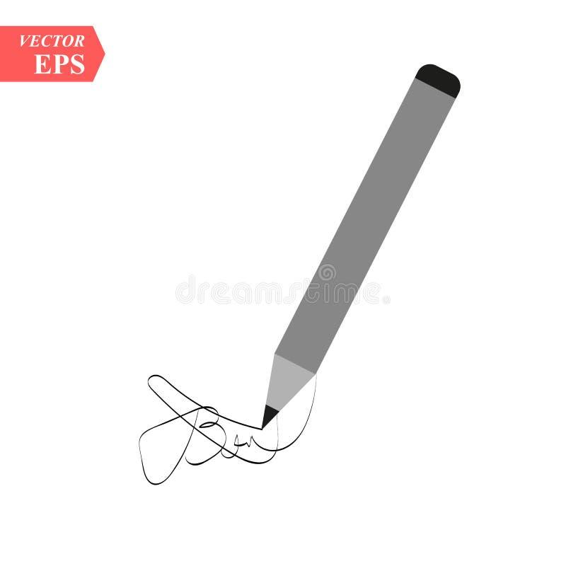 De vectorillustratie van de potloodschets Creatief Idee voor embleemontwerp Vector illustratie EPS10 vector illustratie