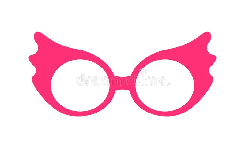 De Vectorillustratie van prinsesparty pink glasses vector illustratie