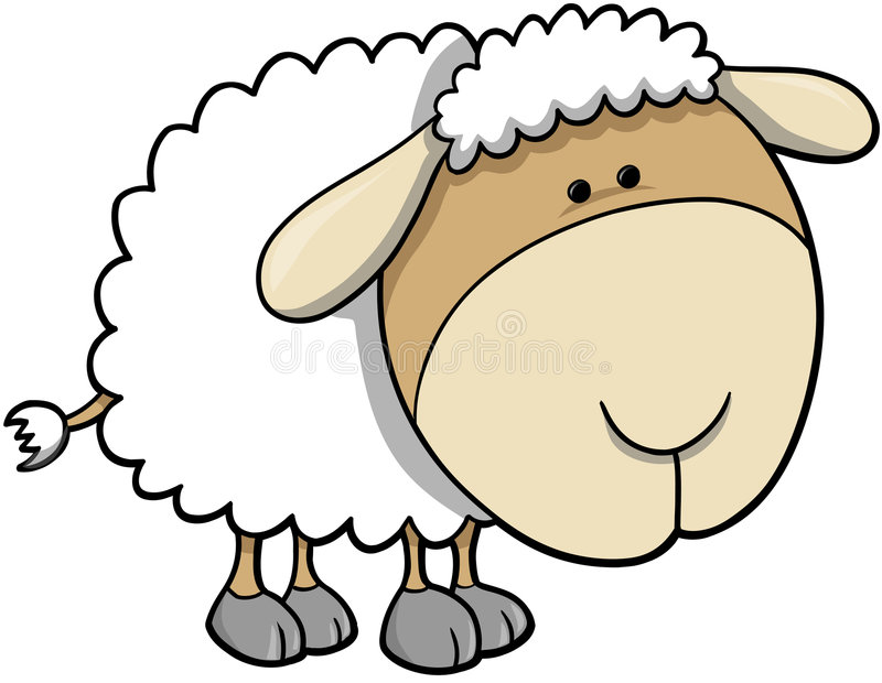 De VectorIllustratie van schapen royalty-vrije illustratie