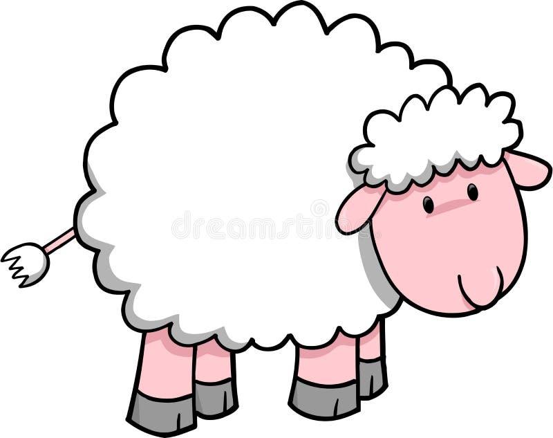 De VectorIllustratie van schapen stock illustratie