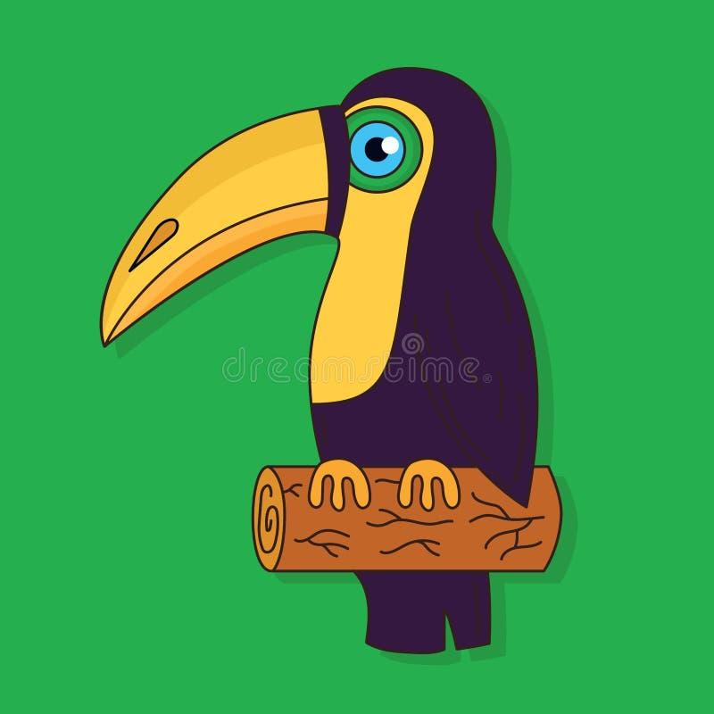De vectorillustratie van de toekanvogel colorfiul vector illustratie