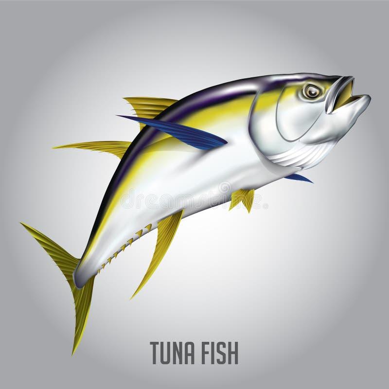 De vectorillustratie van tonijnvissen royalty-vrije stock foto