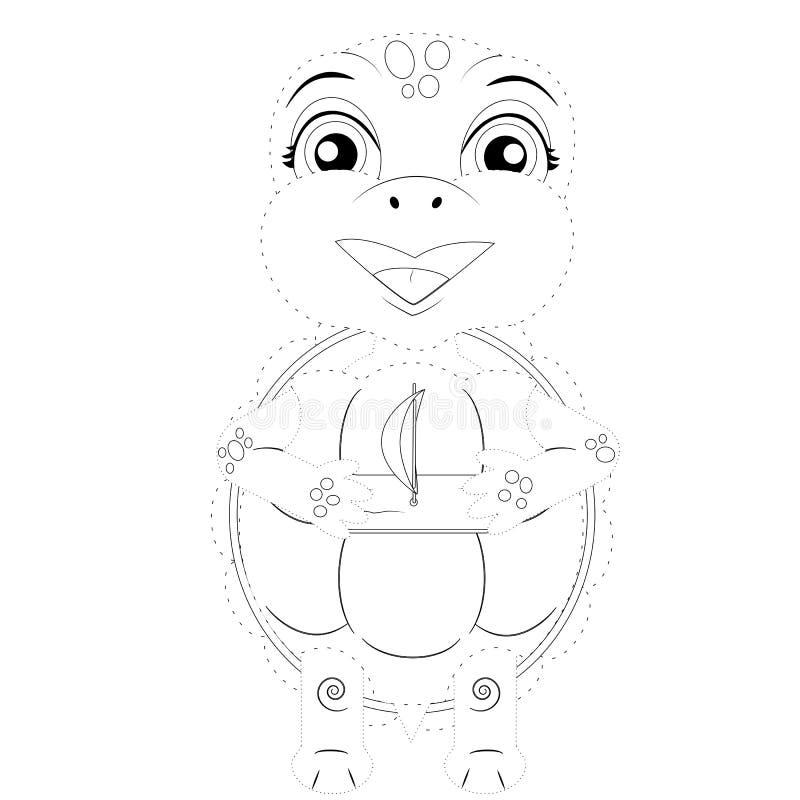 De vectorillustratie van verbindt de punten een schildpad stock illustratie