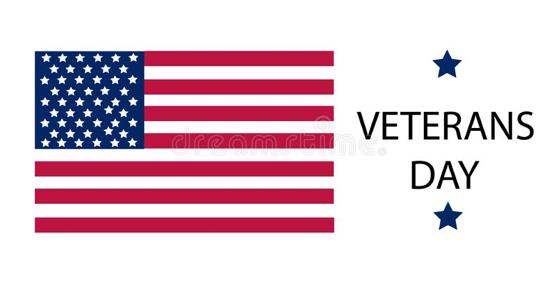 De Vectorillustratie van de veteranendag stock illustratie