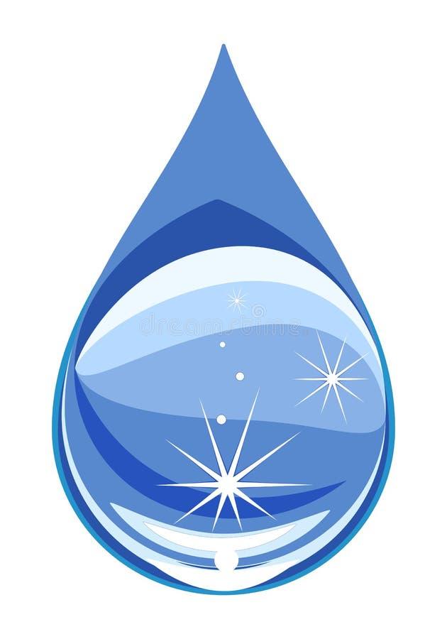 De vectorillustratie van de waterdaling Schone waterdaling royalty-vrije illustratie