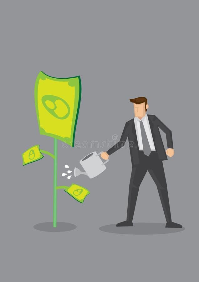 De Vectorillustratie van zakenmangrowing money conceptual royalty-vrije illustratie