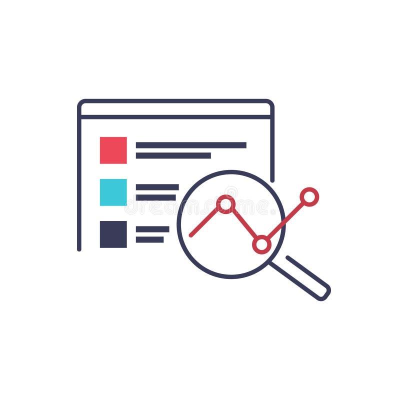 De vectorillustratie van de zoekmachineoptimalisering Websiteontwikkeling en IT bedrijfsbeeld IT organisatie en optimalisering stock illustratie