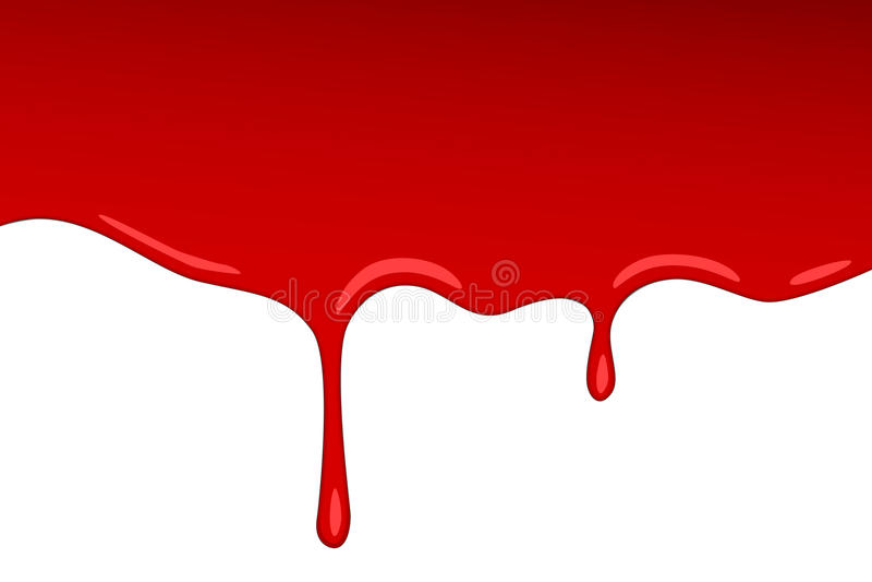 De vectorjam van het druppel rode bloed Ploetert de verf vectorplons en als aardbeistroop of ketchup transparante Achtergrond royalty-vrije illustratie
