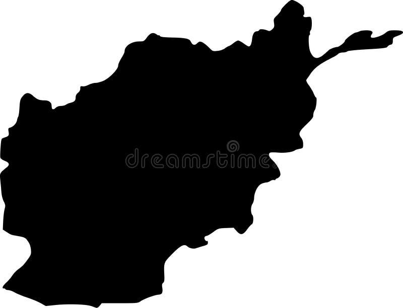 De vectorkaart van Afghanistan vector illustratie