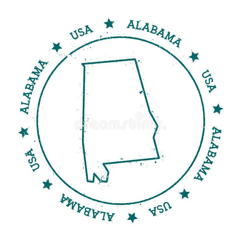 De vectorkaart van Alabama vector illustratie