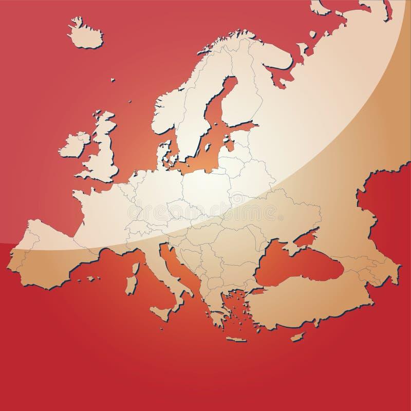 De vectorkaart van Europa vector illustratie