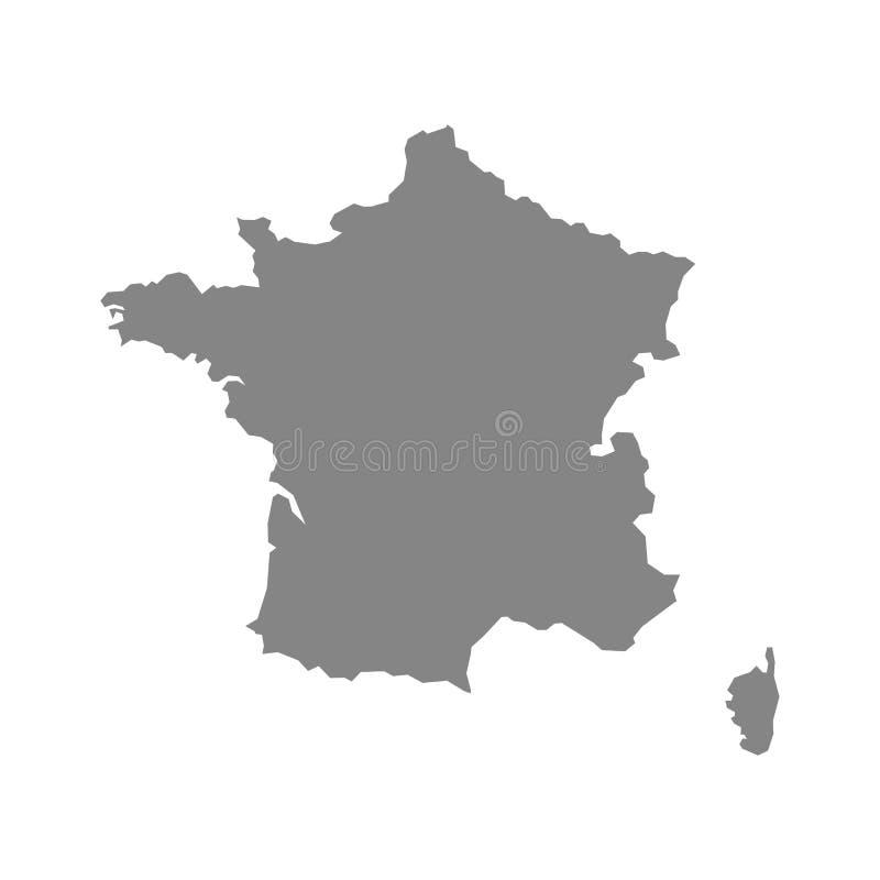 De vectorkaart van Frankrijk stock illustratie