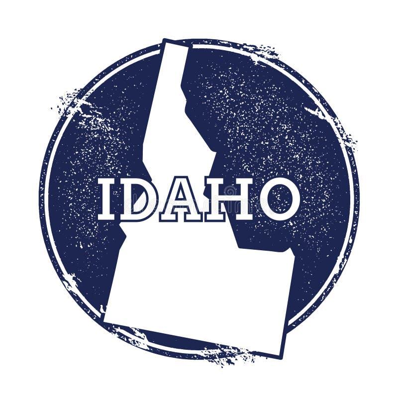 De vectorkaart van Idaho vector illustratie
