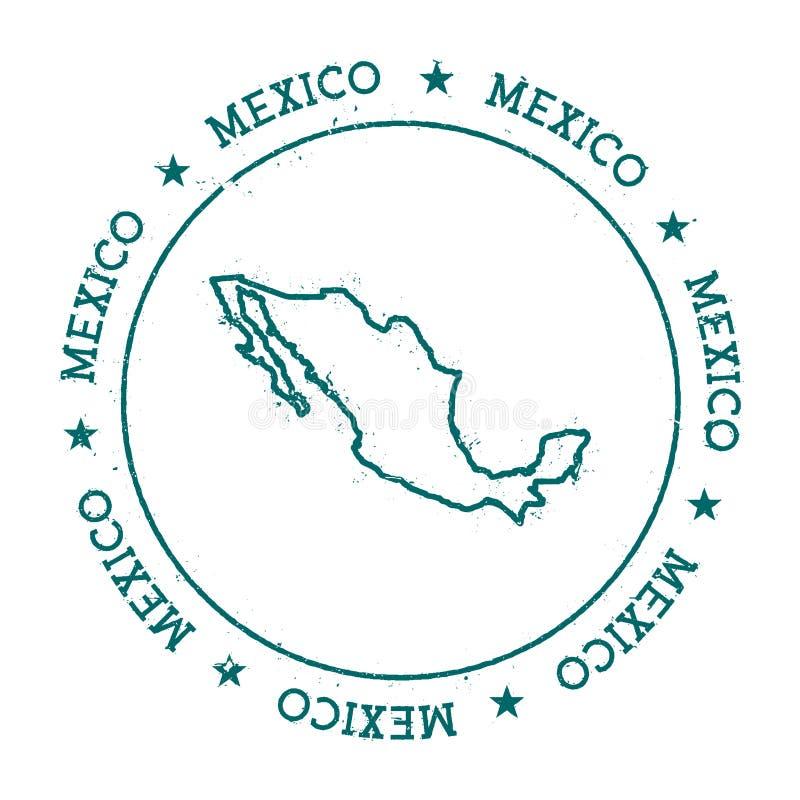 De vectorkaart van Mexico royalty-vrije illustratie