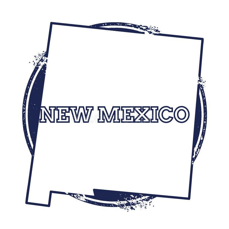 De vectorkaart van New Mexico royalty-vrije illustratie