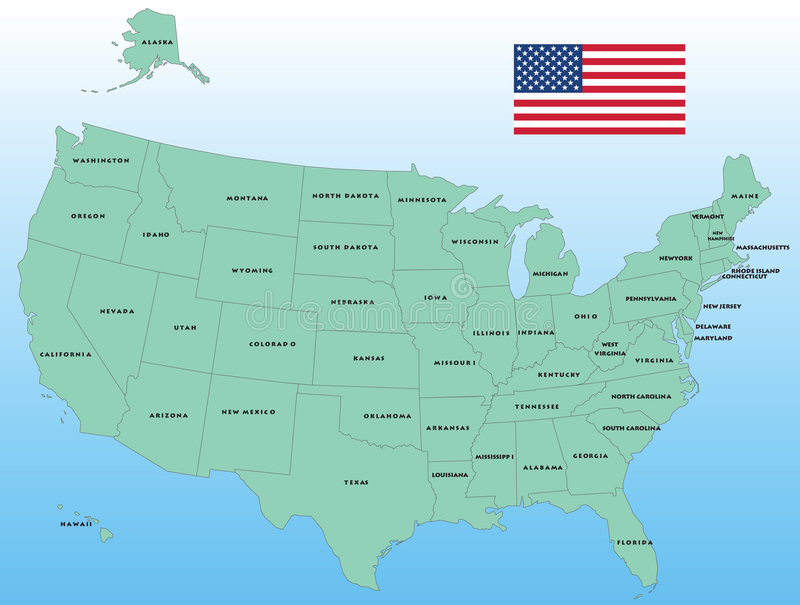 De vectorKaart van Verenigde Staten royalty-vrije illustratie