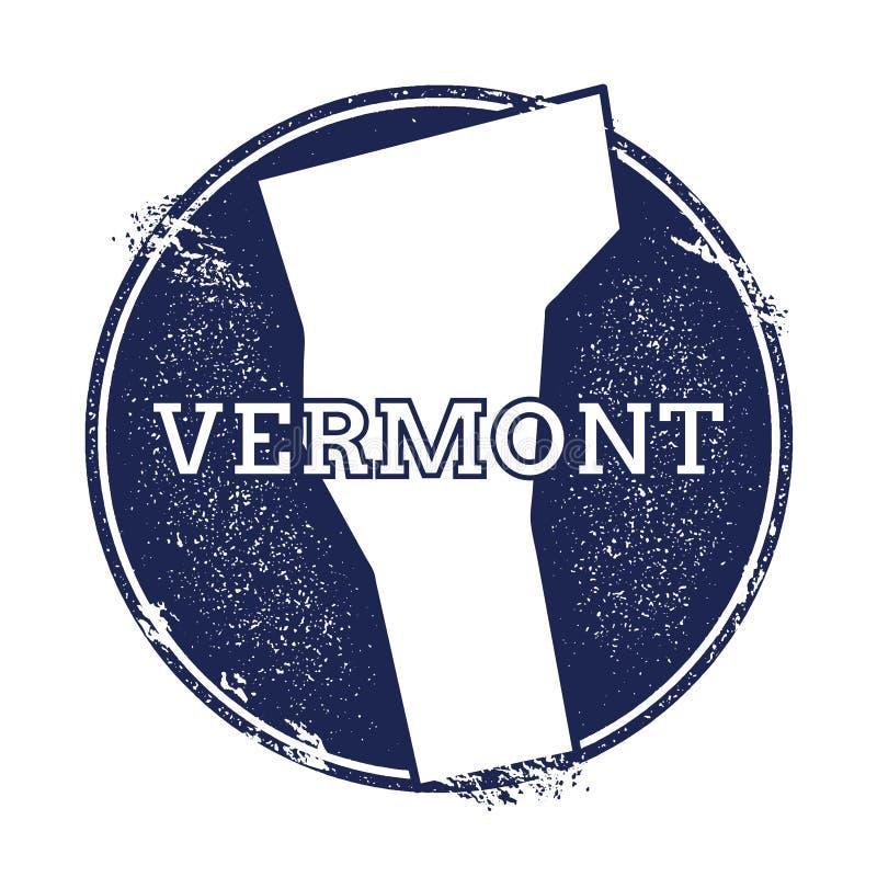 De vectorkaart van Vermont stock illustratie