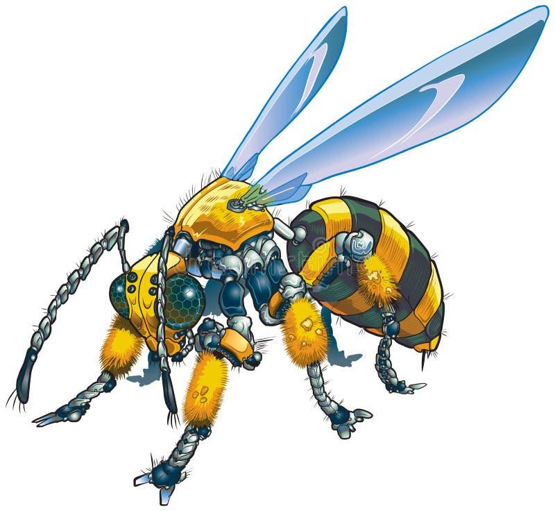 De Vectorklem Art Illustration van de robotwesp vector illustratie