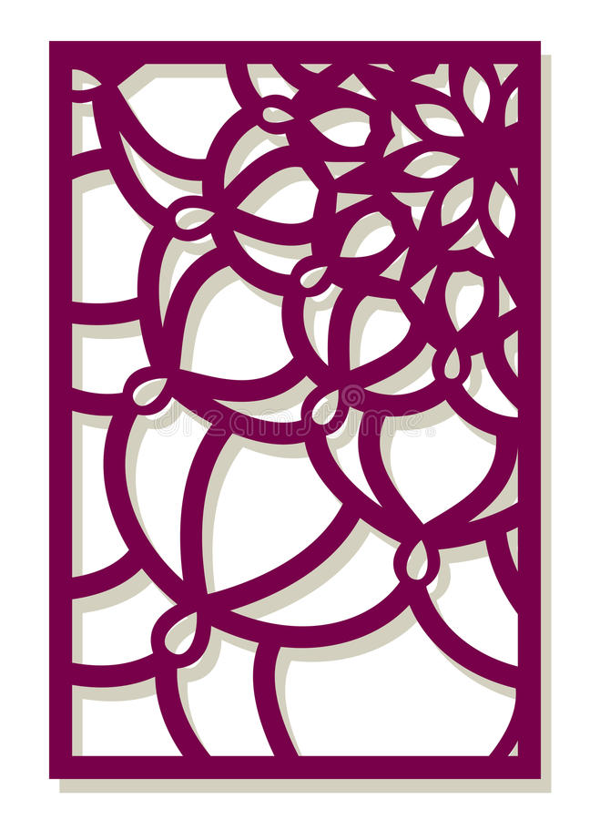 De vectorlaser sneed paneel Abstract Patroonmalplaatje voor decoratief vector illustratie
