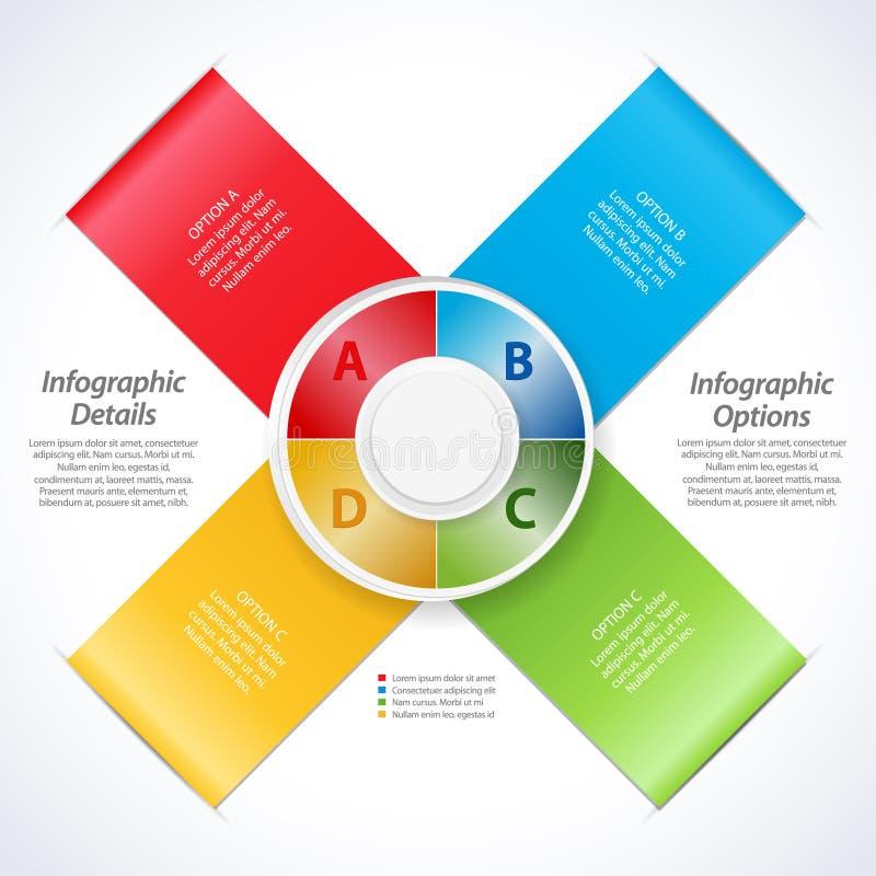 De vectorlinten van de ontwerpbanner en 3d wijzerplaat vector illustratie