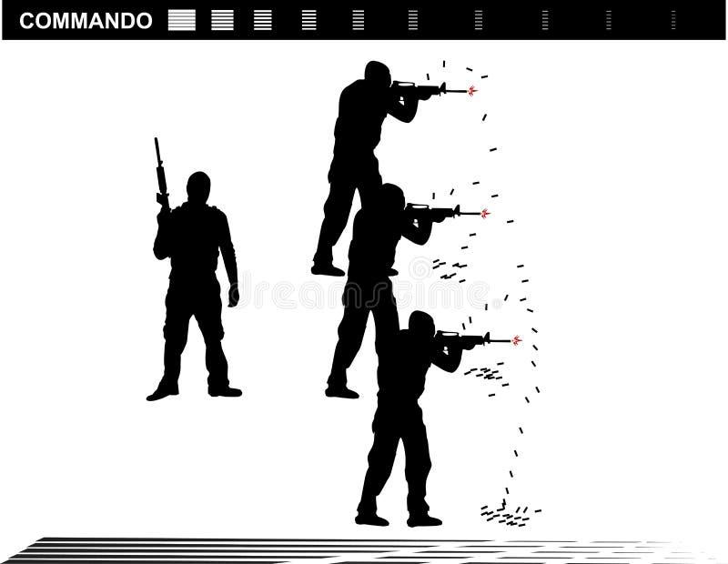 De vectormep Team Police van illustratie Speciale Krachten royalty-vrije illustratie