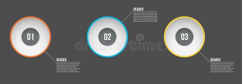 De vectorontwerpsjabloon van illustratieinfographic met opties of stappen Voor proces, presentaties, lay-out, banner, informatie vector illustratie